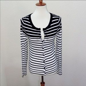 Express Striped Cardigan Sweater Size Small
